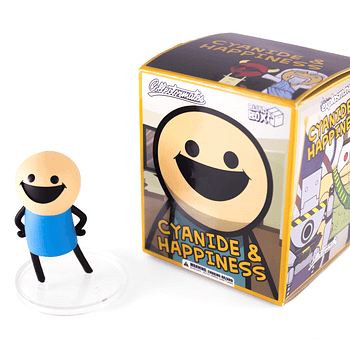 SDCC Cyanide and Happiness Figures Blue Shirt Guy + Box