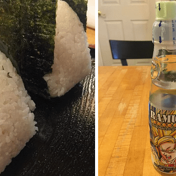 Rice Balls And Dragon Ball Marble Soda At Matcha Time Cafe