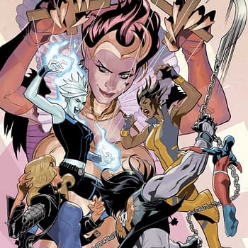 Justice League of America #22 cover by Terry and Rachel Dodson