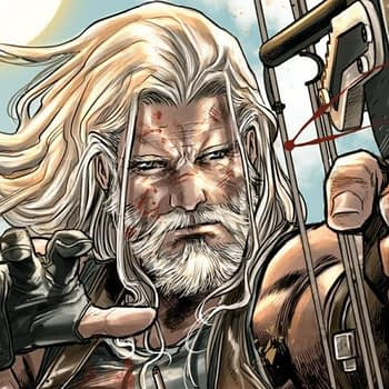 Old Man Hawkeye #1 cover by Marco Checchetto