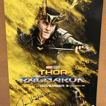 Tom Hiddleston signed loki poster