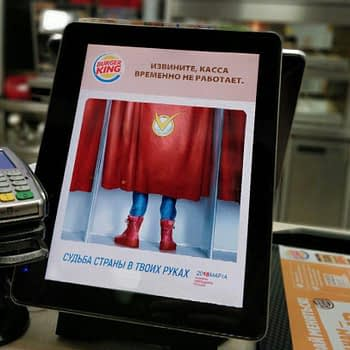 Burger King Russian Superman Ad