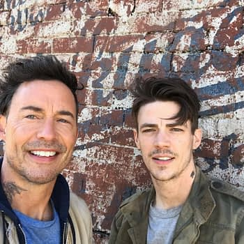 Tom Cavanagh and Grant Gustin