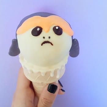 porg cupcake cone