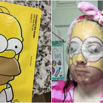 homer simpson sheet mask