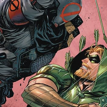 Green Arrow #39 cover by Tyler Kirkham and Tomeu Morey