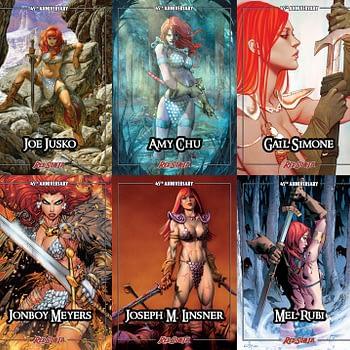 Red Sonja trading cards kickstarter