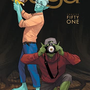 Saga #51 cover by Fiona Staples