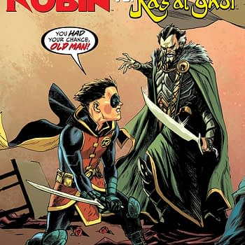 Batman Prelude to the Wedding #1: Robin vs. Ra's al Ghul cover by Rafael Albuquerque and Dave McCaig