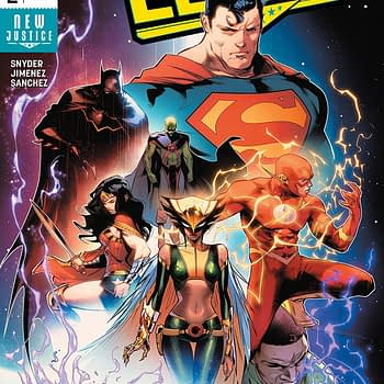 Justice League #2 cover by Jorge Jimenez and Alejandro Sanchez