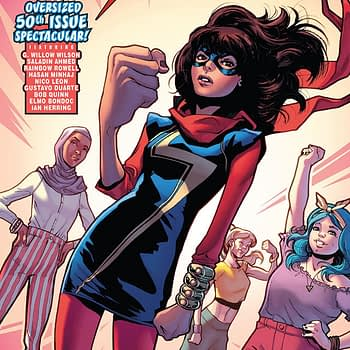 Ms. Marvel #31 cover by Valerio Schiti and Rachelle Rosenberg