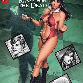 Vampirella: Roses for the Dead #1 cover by Joseph Michael Linsner