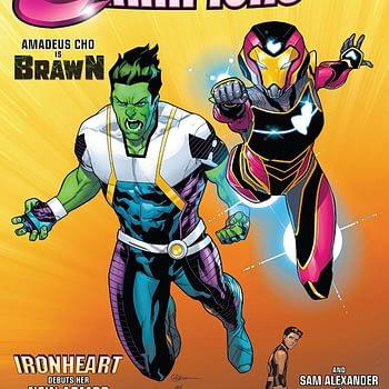 Champions #22 cover by R.B. Silva and Nolan Woodard