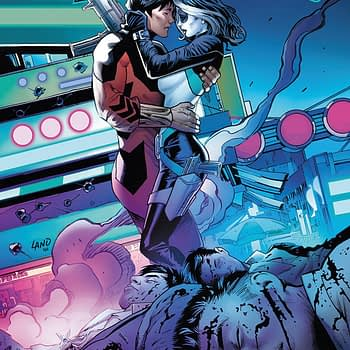 Domino #4 cover by Greg Land and Frank D'Armata