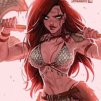 Red Sonja #20 cover by Babs Tarr