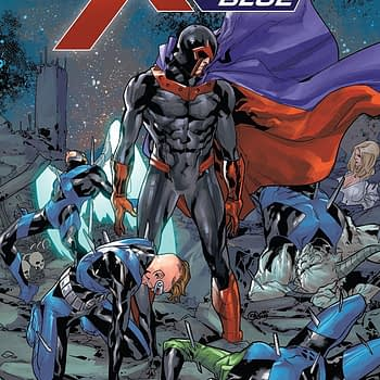 X-Men: Blue #34 cover by R.B. Silva and Rain Beredo