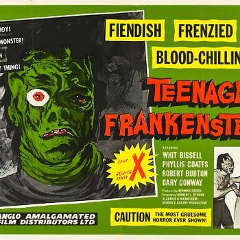 I was a Teenage Frankenstein poster