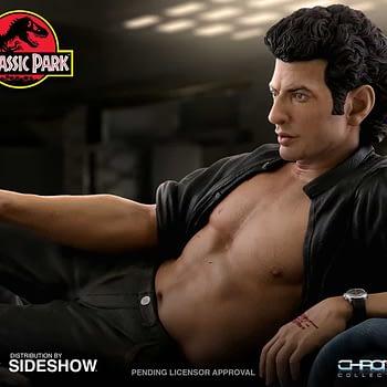 Jurassic Park Sexy Jeff Goldblum Statue Chronicle 1