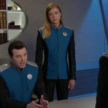 The Orville - Seth MacFarlane, Adrienne Palicki, and Jessica Szohr s02e07 Deflectors