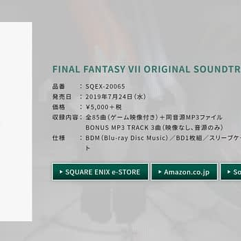 The Final Fantasy VII Revival Disk Brings Back the Iconic Soundtrack in July