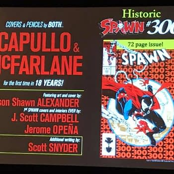 Scott Snyder and Greg Capullo Join Spawn #300 With Todd McFarlane Drawing (Video)