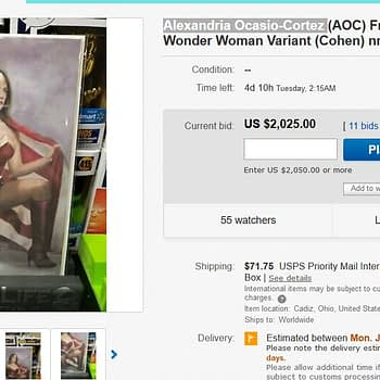 Wonder Woman AOC Variant Cover to Sell For Over $2000