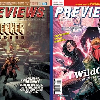 Beserker and Wildcats On the Front and Back Cover of Next Week's Diamond Previews