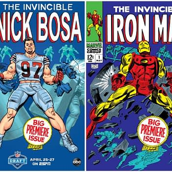 NFL SuperPro: Marvel and ESPN Homage Classic Comic Covers for Draft