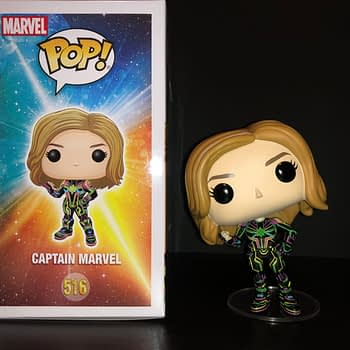 Let's go Cosmic with Captain Marvel's Neon Suit Funko Pop! [Review]