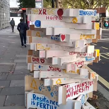 Whizzing Through Extinction Rebellion London