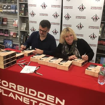 Steven And Sue Signing Sherlock Comics on a Saturday Morning in London