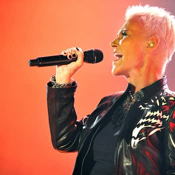 Singer Marie Fredriksson (right) of Roxette during performance in Prague, Czech republic, June 5, 2011
