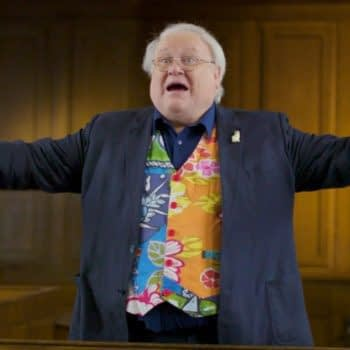 """""""Doctor Who"""": Colin Baker on Trial... Again?!? Relax - It's Only to Promote BBC's Season 23 Blu-Ray Boxset"""