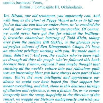 Alan Moore Replies to Comicsgate in Final League Of Extraordinary Gentlemen