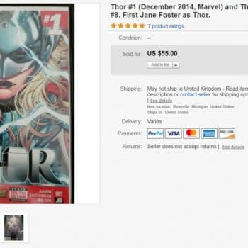 Jane Foster as Thor #1 Just Sold for $55 on eBay