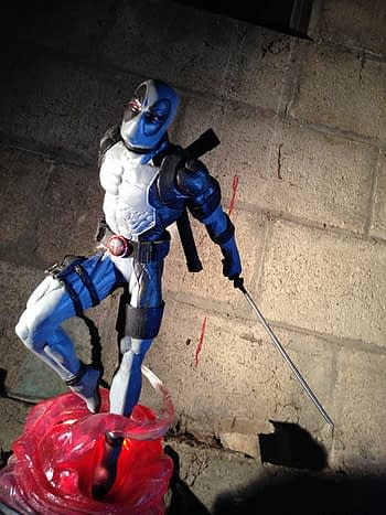 Gamestop Deadpool X Forcel Gallery Statue 1