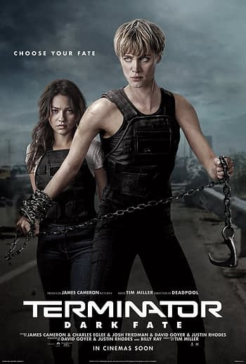 "4 New Character Posters for ""Terminator: Dark Fate"""