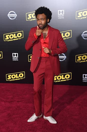"Donald Glover arrives to the ""Solo: A Star Wars Story"" World Premiere on May 10, 2018 in Hollywood, CA"