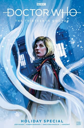 Our First Proper Look at David Tennant's Doctor Meeting Jodie Whittaker's in Doctor Who - January 2020 Titan Solicits