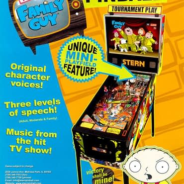 Is Meg The Problem? Stern's Family Guy Pinball