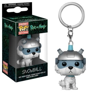 Funko Pop Keychain Rick and Morty Snowball