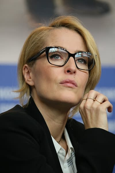 Gillian Anderson attends the 'Viceroy's House' press conference during the 67th Berlinale International Film Festival Berlin at Grand Hyatt Hotel on February 12, 2017 in Berlin, Germany.