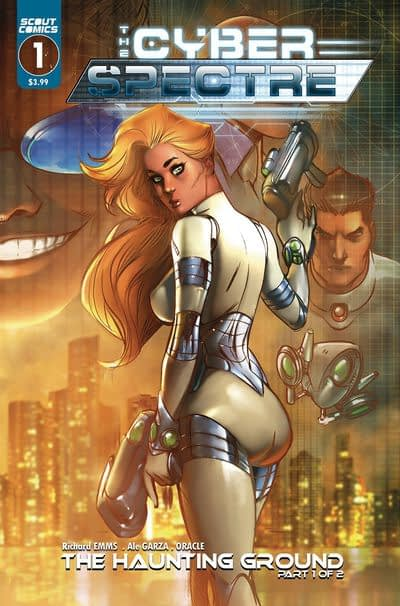 Cyber Spectre #1 cover by Ale Graza