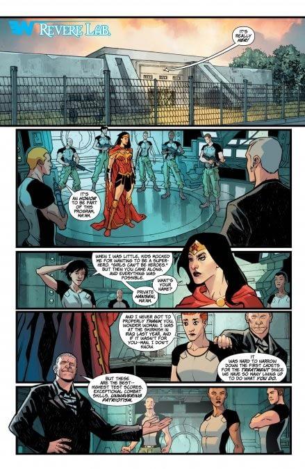 Interior art to Wonder Woman #30 by David Messina