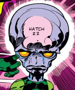 I really love this guy's design by Jack Kirby, Mike Royer, and Petra Goldberg