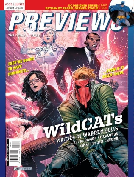 Beserker and Wildcats On the Front and Back Cover of Nezt Week's Diamond Previews