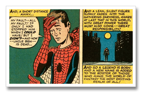 Spider-Man, With great power panel[2]