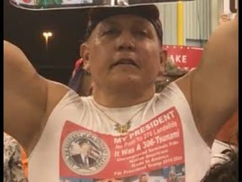 """RAW/UNEDITED: """"Fahrenheit 11/9"""" outtake of Cesar Sayoc at 'Trump 2020' Rally in February 2017"""