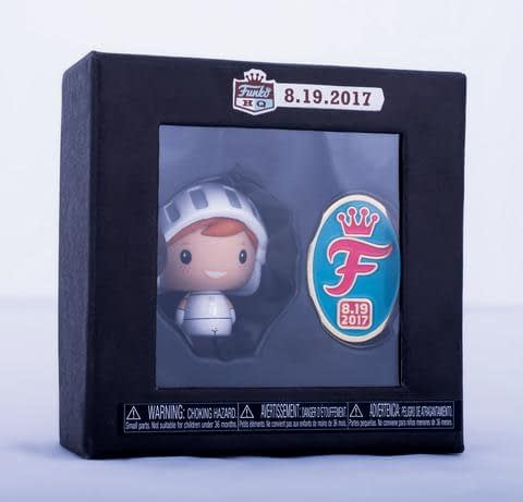 FUnko HQ Pint Size Heroes Freddy White Knight Grand Opening Pin Set