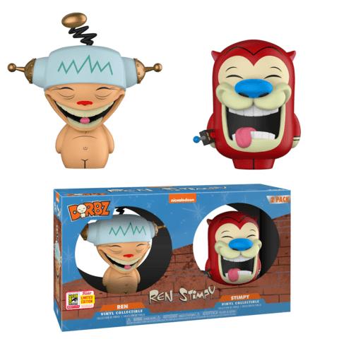 Funko SDCC Ren and Stimpy Happy Happy Joy Joy Dorbz Two Pack
